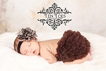 Brown Chiffon Ruffle Baby Bloomers